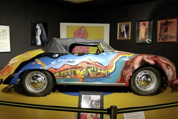 Take a selfie with a replica of Janis Joplin's psychedelic 1965 Porsche 356 Cabriolet at the Museum of the Gulf Coast.