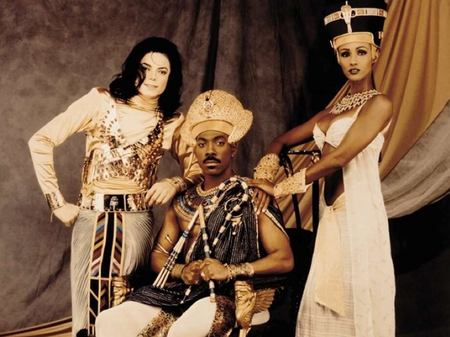 """Michael Jackson, Eddie Murphy and Iman in Jackson's 1992 """"Remember the Time"""" video. Photo: Instagram"""