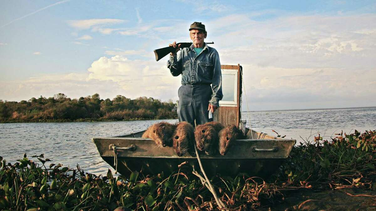 """Nutria hunter Thomas Gonzalez appears in the documentary """"Rodents of an Unusual Size."""""""