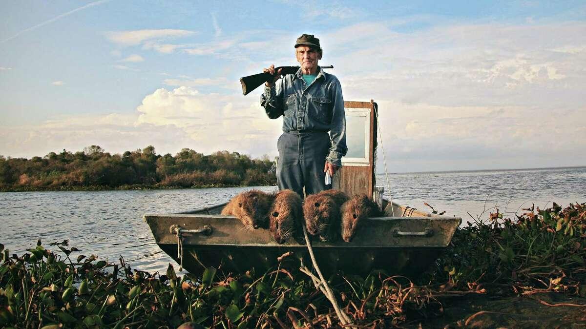 Nutria hunter Thomas Gonzalez appears in the documentary