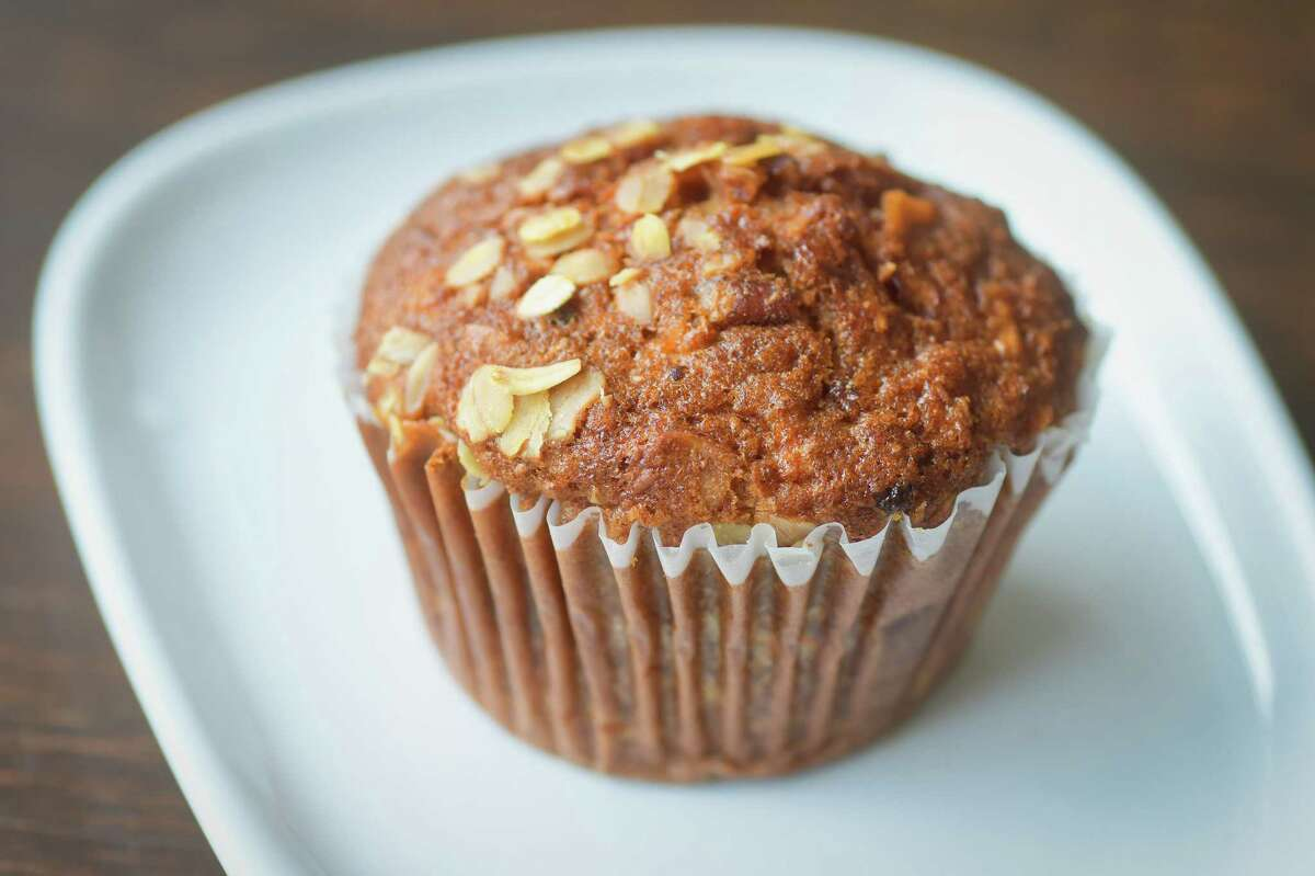 A view of a morning glory muffin, made by Bread Alone, sold at Stacks Espresso Bar on Wednesday, July 25, 2018, in Albany, N.Y. (Paul Buckowski/Times Union)