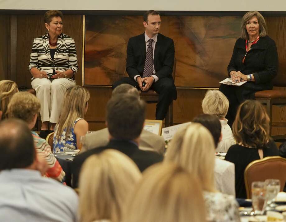 Dolores Vick, Jeff Hughes and Jami Owen participate in a panel discussion 08/29/18 at the State of Nonprofits luncheon. Tim Fischer/Reporter-Telegram Photo: Tim Fischer/Midland Reporter-Telegram