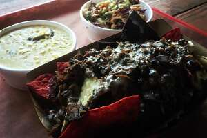 Augie's Alamo City BBQ Steakhouse:  We recommend instead  B-Daddy's BBQ . Order the BBQ Nachos.  14436 Old Bandera Road, 2 Sun Valley Drive, Spring Branch. 210-275-9995,    bdaddysbbq.com