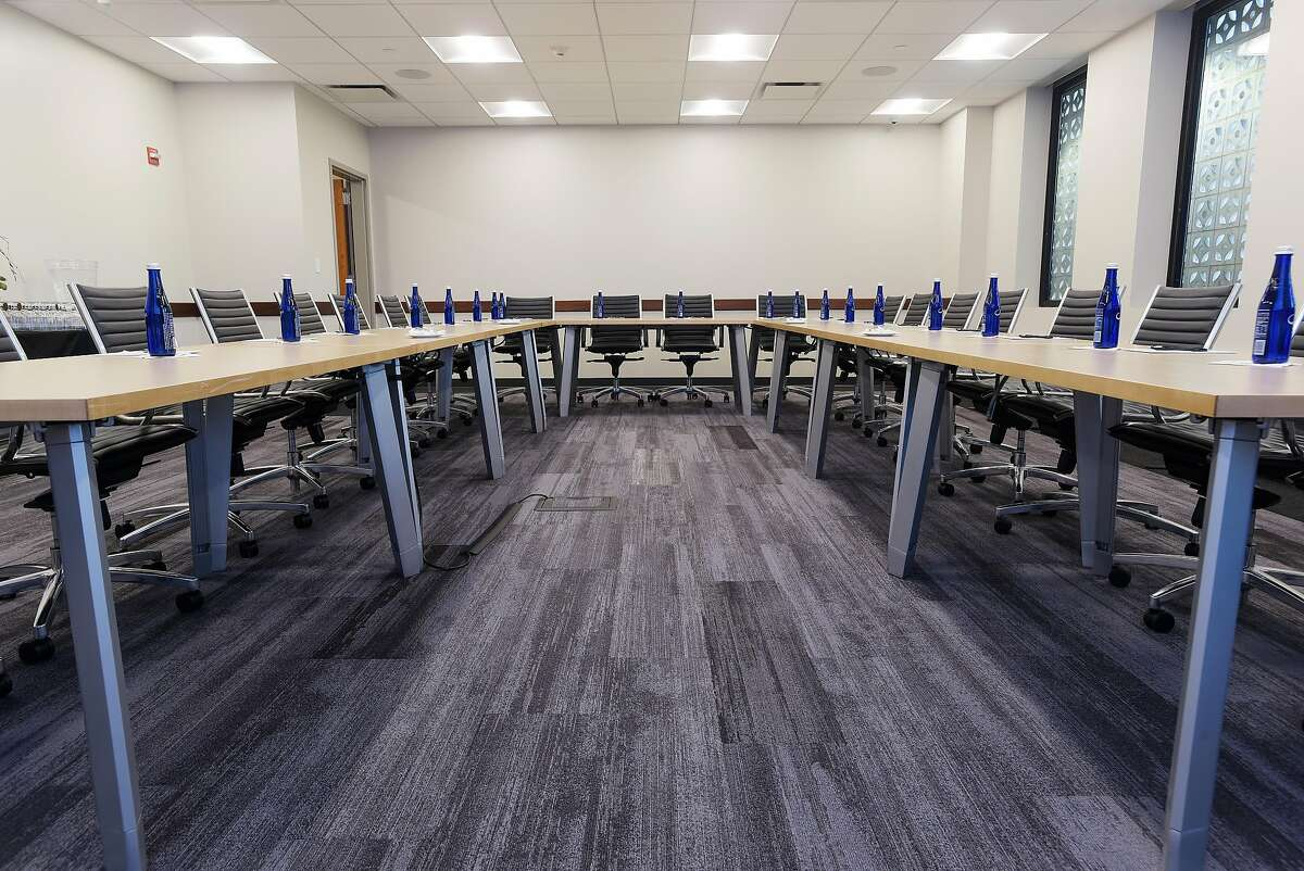 A view of the Phoebe Boardroom inside the Hearst Media Center on Thursday, July 12, 2018, in Colonie, N.Y. (Paul Buckowski/Times Union)