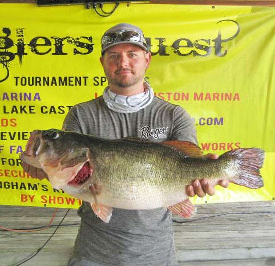 Kyle Nitshke had the big bass in the Anglers Quest Team Tournament #8 with a weight of 9.99 pounds. Photo: Angler's Choice
