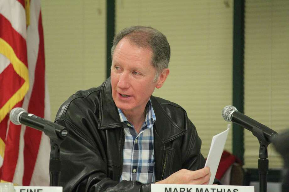 School board member Mark Mathias advocates for the preservation of the innovation fund at the May 8, 2017 Westport Board of Education meeting in Westport, CT. Photo: Chris Marquette / Hearst Connecticut Media / Westport News