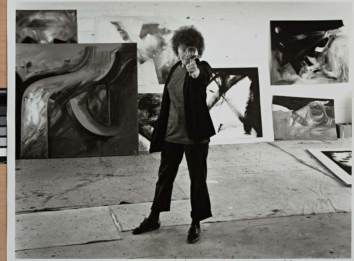 Jay DeFeo in her studio, 1986