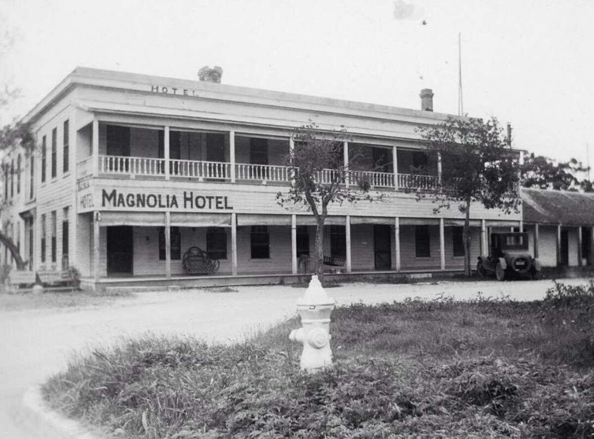 A photo of the Magnolia Hotel, circa 1930, in Seguin.