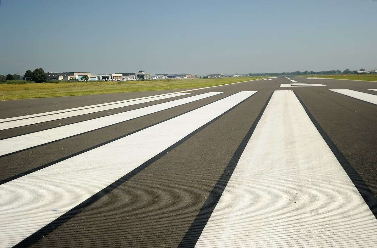 Runway 6, the main runway at Sikorsky Airport in Stratford, Conn. on Wednesday, August 29, 2018.