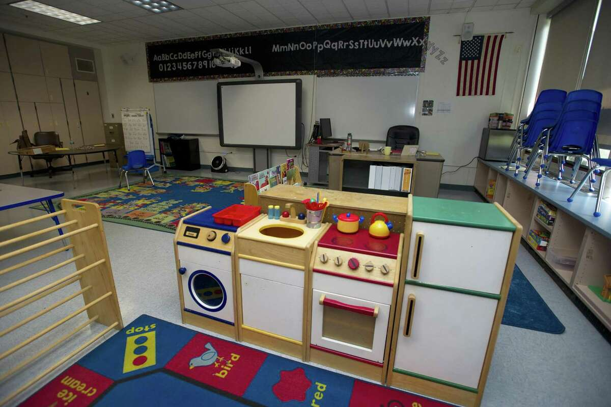 A classroom inside Newfield Elementary School in Stamford, Conn. on Monday, Aug. 27, 2018.