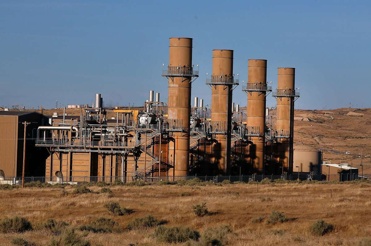 The La Paloma Generating Station, which is in bankruptcy, is shown in operation Thursday, June 8, 2017 in McKittrick, Calif. The La Paloma Generating Station is another casualty of California's power glut and has suffered double digit declines the past two years.
