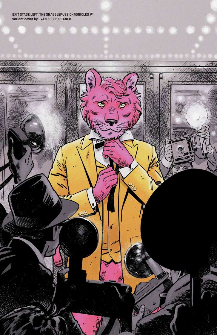 """A variant cover of the first issue of the comic book """"The Snagglepuss Chronicles."""""""