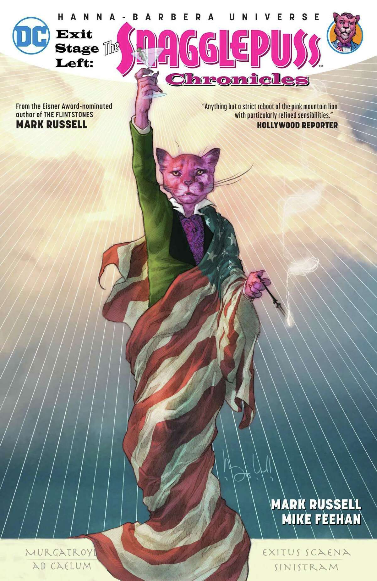 """A cover of the comic book """"The Snagglepuss Chronicles."""""""