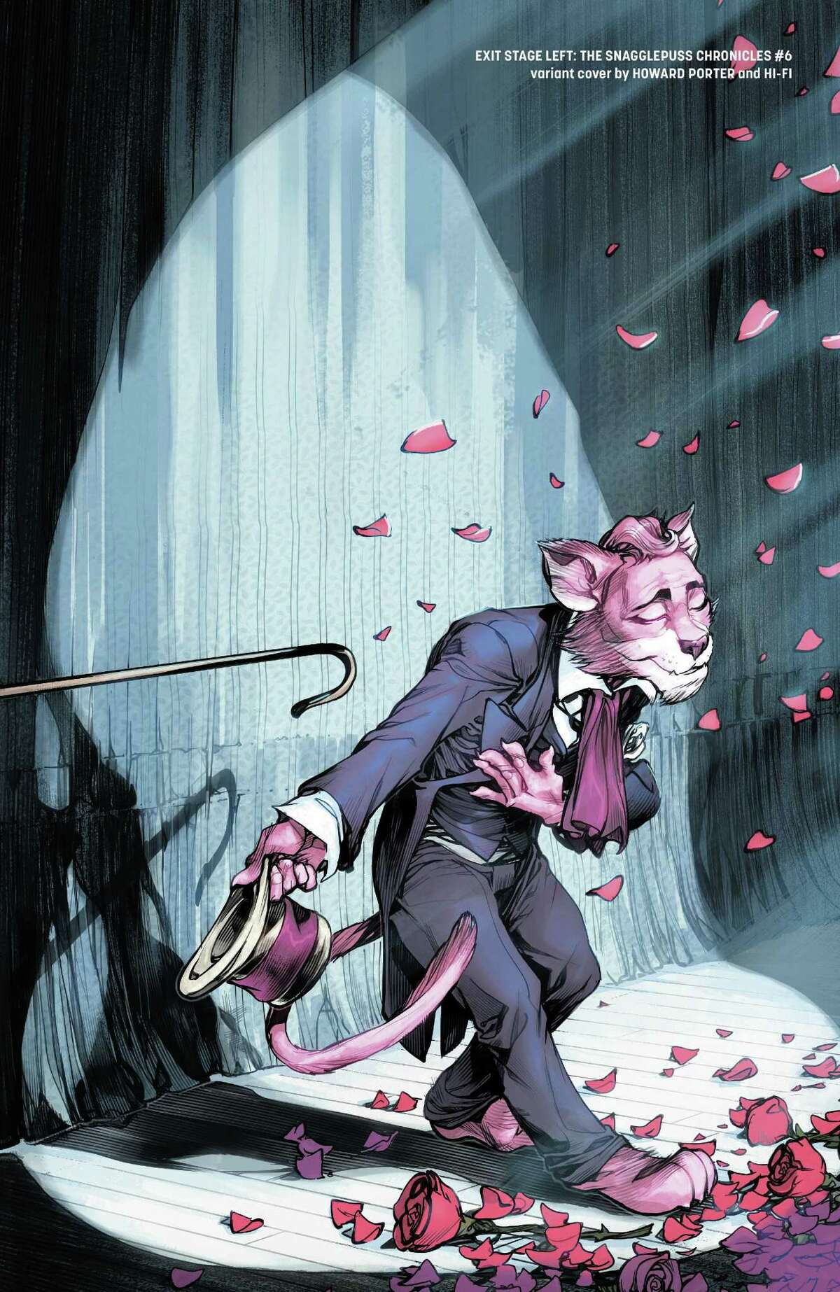 """A variant cover of issue number six of """"The Snagglepuss Chronicles."""""""