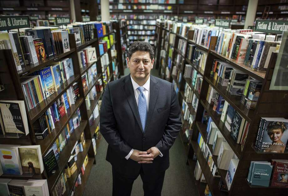 Demos Parneros, chief executive of Barnes & Noble, inside the Union Square store in New York, April 26, 2017. Parneros was fired quietly in July 2018, but the company later brought up claims that he sexually harassed an employee during a public exchange of accusations. Photo: JOSHUA BRIGHT /NYT / NYTNS