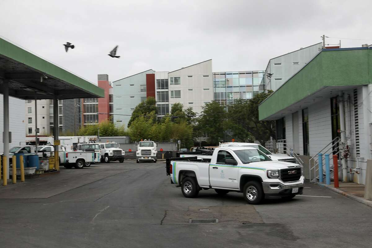 Part of the Recology yard seen at 900 7th St. on Tuesday, Aug. 28, 2018 in San Francisco, Calif. The solid waste company Recology is seeking to shut down its yard at 7th St.