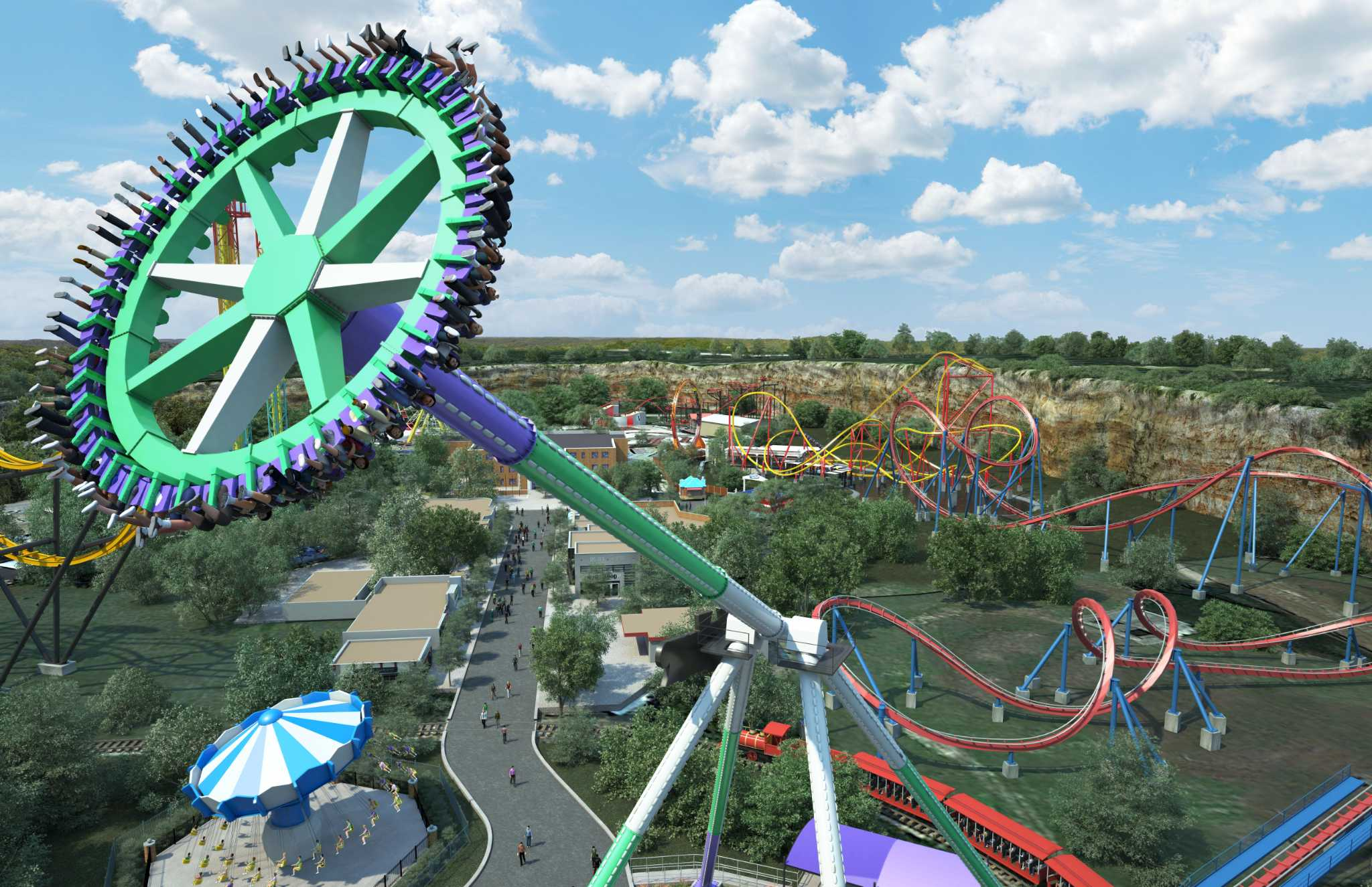 Six Flags Fiesta Texas To Open Joker Ride In 2019 San