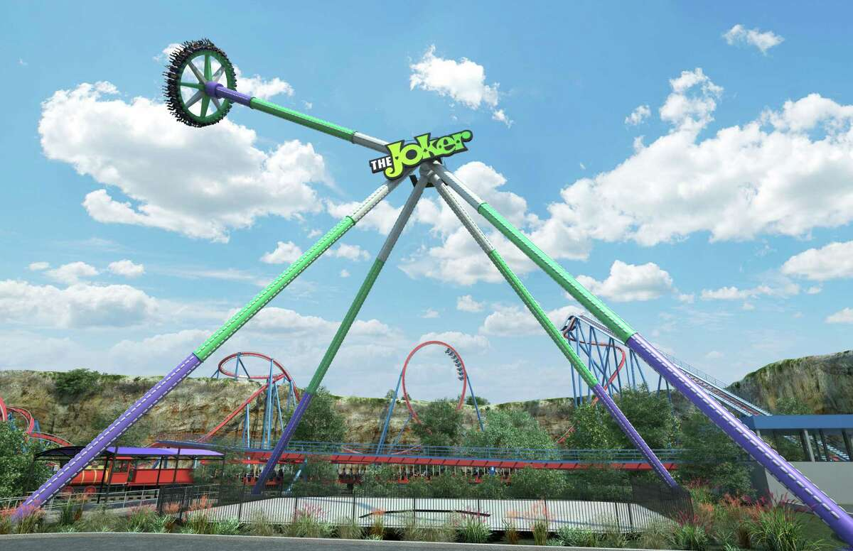 The Joker Wild Card ride will pack 40 riders onto a disk and swing them around at speeds reaching 75 mph while the disk spins counterclockwise.
