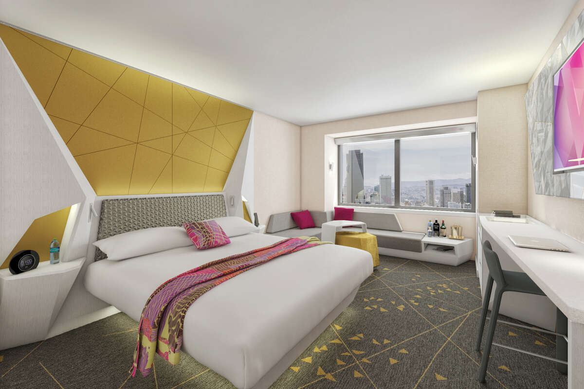 There's no resort fee at the W Hotel in San Francisco which is currently revamping its rooms to look like this rendering