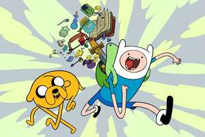 "Jake (left) and Finn (right) are the righteous heroes of the hit Cartoon Network series, ""Adventure Time,"" which premiered April 5, 2010."