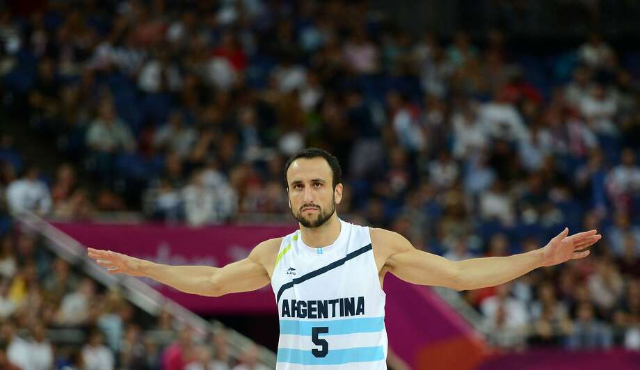 ">> Click ahead to see the Argentine teammates who will attend Manu Ginobili's Spurs jersey retirement ceremonyFILE - In this file picture taken on August 10, 2012 Argentinian guard Emanuel Ginobili is pictured during the London 2012 Olympic Games men's semifinal basketball game against USA at the North Greenwich Arena in London. - San Antonio Spurs star Manu Ginobili confirmed his retirement from basketball on August 27, 2018, bringing down the curtain on a 23-year career that included four NBA Finals victories. The 41-year-old Argentine star, widely seen as the most successful foreign player in the history of the NBA, confirmed his retirement in a brief posting on social media. ""Today, with a wide range of feelings, I'm announcing my retirement from basketball,"" Ginobili wrote. Photo: TIMOTHY A. CLARY, AFP/Getty Images"