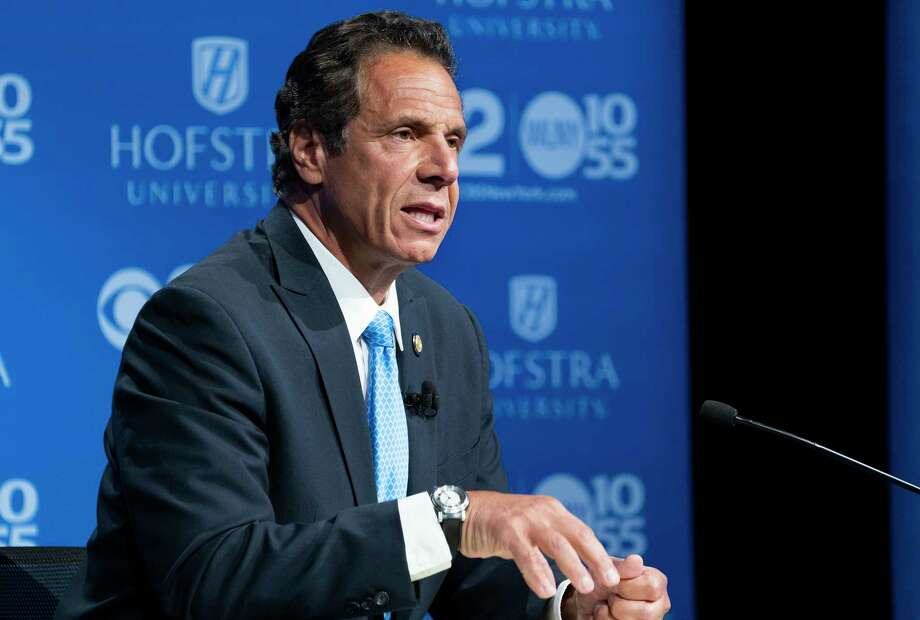 A new poll is projecting that Gov. Andrew M. Cuomo is heading to a massive victory in Thursday's Democratic primary. (AP Photo/Craig Ruttle, Pool) Photo: Craig Ruttle / FR61802 AP