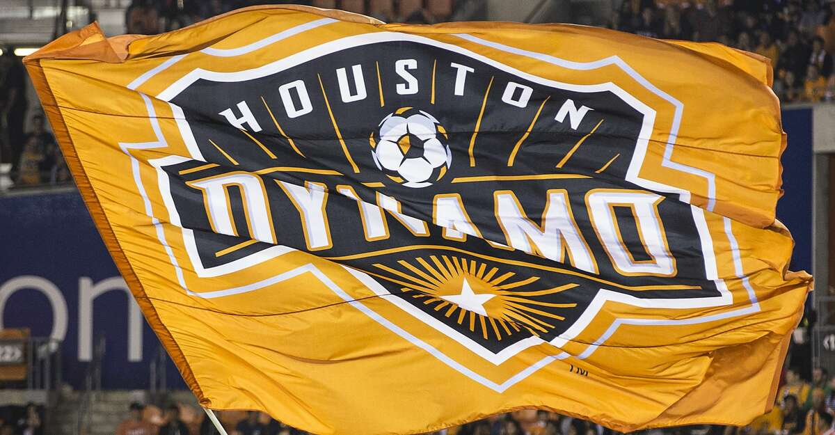 Houston Dynamo mascot Diesel waves a Dynamo flag before the first half of the MLS Western Conference Finals at BBVA Compass Stadium on Tuesday, Nov. 21, 2017, in Houston. ( Brett Coomer / Houston Chronicle )