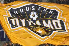 Houston Dynamo mascot Diesel waves a Dynamo flag beforew the first half of the MLS Western Conference Finals at BBVA Compass Stadium on Tuesday, Nov. 21, 2017, in Houston. ( Brett Coomer / Houston Chronicle )
