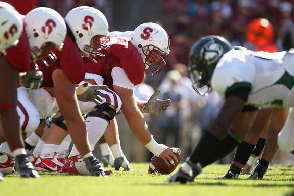 PALO ALTO, CA - SEPTEMBER 04:  The Stanford Cardinal lines up against Sacramento State Hornets at Stanford Stadium on September 4, 2010 in Palo Alto, California.  (Photo by Ezra Shaw/Getty Images)