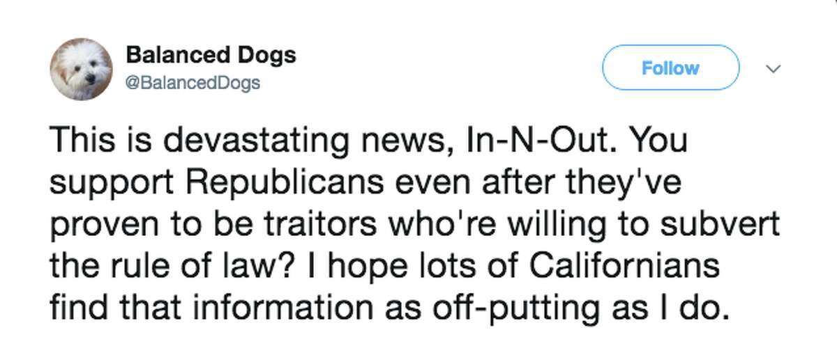 A number of left-leaning Twitter users called for a boycott of In-N-Out after it was revealed the fast food chain donated to the California Republican Party.