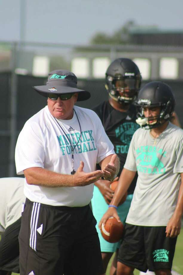 Mavs head coach Chris Quillian will pass John Snelson this season for most games as Memorial High School's head football coach. Speaking of the two, they oppose each other on Sept. 7. Photo: Robert Avery