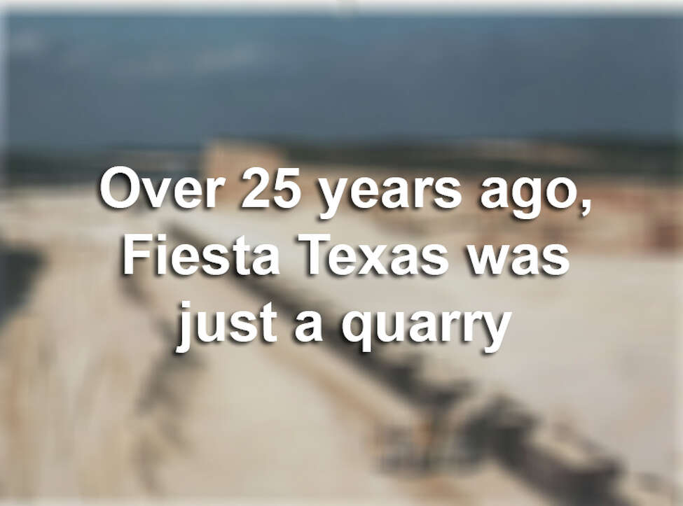 Six Flags Fiesta Texas is in full swing, but before the roller coasters, shows and bustling boardwalk, the area was just an empty quarry on the outskirts of San Antonio. Click ahead to view the park's early days, and how much it has grown.