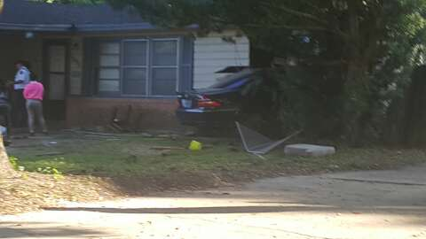 BPD: Juvenile in custody after driving stolen car into home