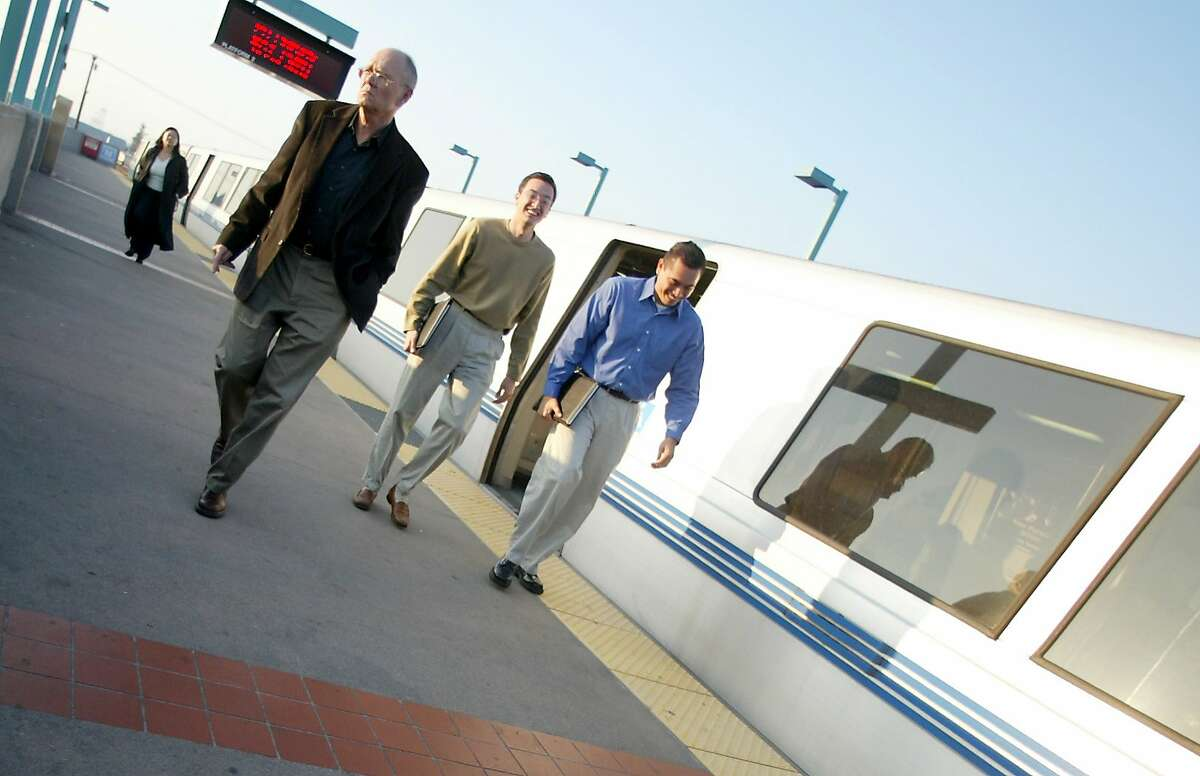 FILE-- BART riders can expect laborious bay crossings this holiday weekend as the transit system again shuts down service between West Oakland station and the 19th Street and Lake Merritt stations.