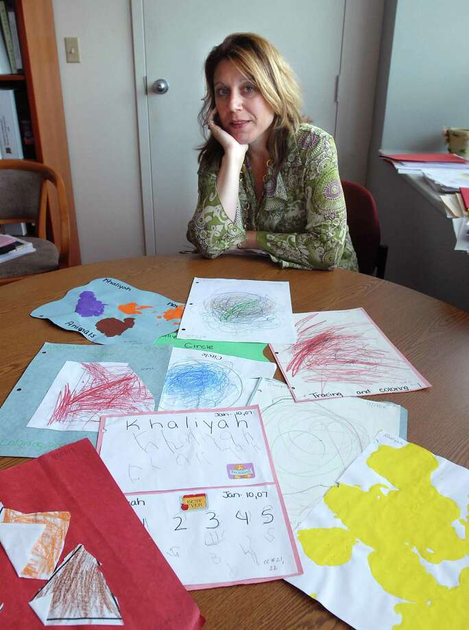In this photo from 2007, Dr. Tina Mannarino is shown in her office at the Gateway Center in New Haven where she served as the Early Childhood Programs Supervisor for the New Haven Public Schools. Photo: Peter Casolino