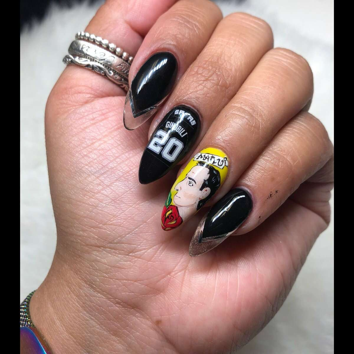Nail down your love for him Artists like @TxManiMuse clearly have their finger on the pulse of Ginobli-loving hearts, check out her nails!