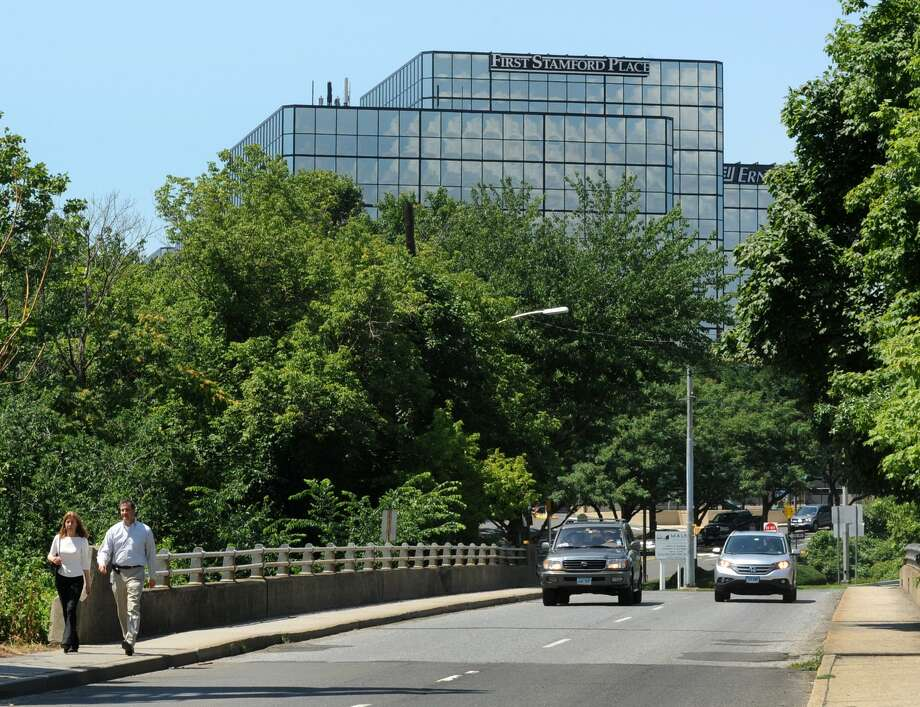 The First Stamford Place office complex in Stamford, Conn., home to United Rentals and Berkshire Hathaway's reinsurance group that were among southwestern Connecticut companies to report big profitability gains in the summer of 2018. Photo: Cathy Zuraw / Cathy Zuraw / Connecticut Post