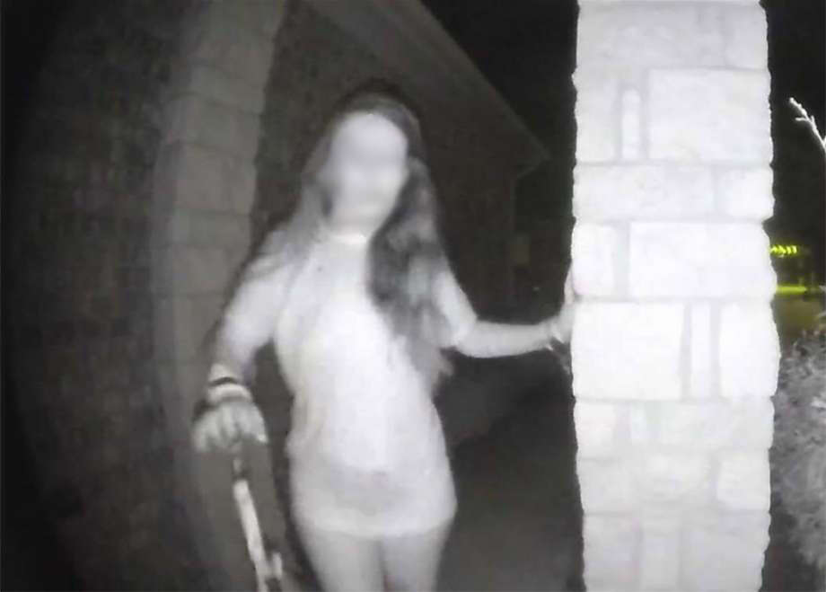 The Montgomery County Sheriff's Office says the woman in the mysterious doorbell video is now safe. She is also believed to be the victim of domestic violence. This photo has been blurred to protect the victim's identity. Photo: Montgomery County Sheriff's Office