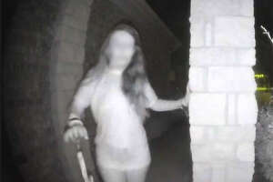 The Montgomery County Sheriff's Office says the woman in the mysterious doorbell video is now safe. She is also believed to be the victim of domestic violence.   This photo has been blurred to protect the victim's identity.