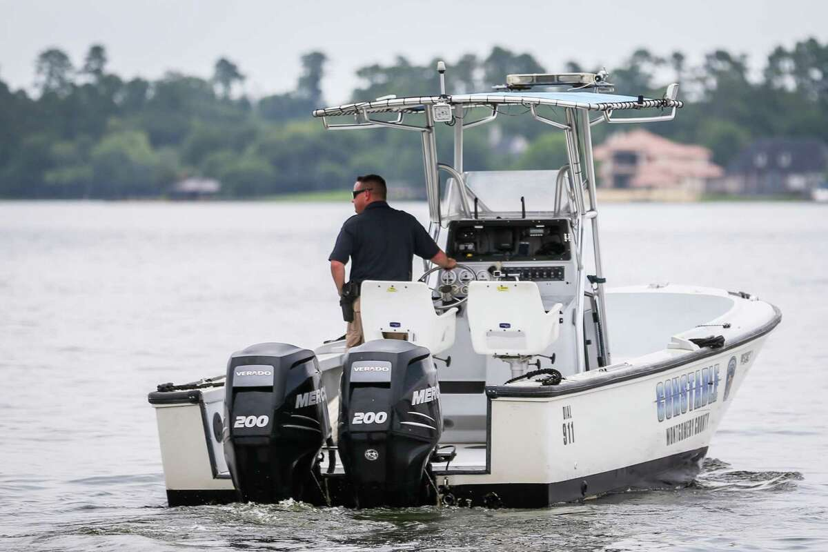 Precinct 1 Constable's Lt. Tim Cade is pictured on Monday, June 4, 2018, on Lake Conroe.