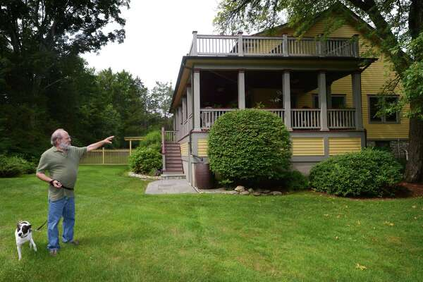 Lee Levy, a local architect, at his home at 100 Comstock Hill Ave. Friday, August 17, 2018, in Norwalk, Conn. The home is listed on the Connecticut Register of Historic Places that has been owned by artists or designers since 1925.