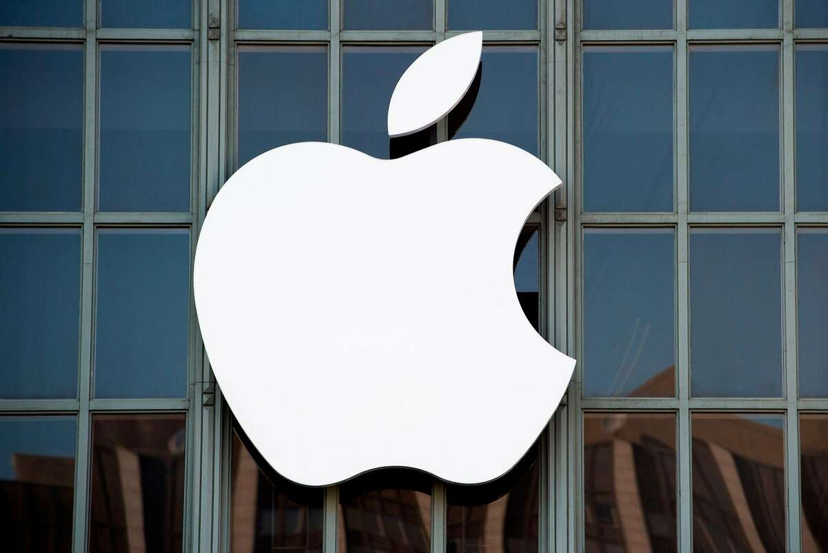 A file photo of the Apple logo.
