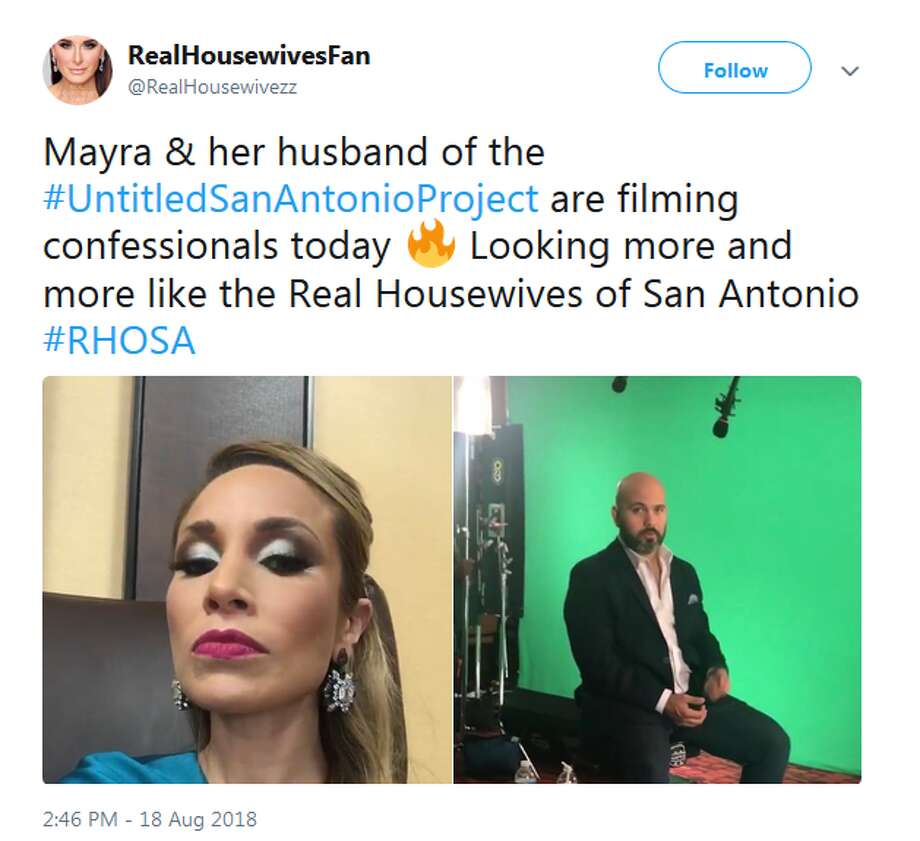 Click ahead to view cast members of 'Texicanas' on social media. @RealHousewivezz: Mayra & her husband of the #UntitledSanAntonioProject are filming confessionals today Photo: Twitter Screengrabs
