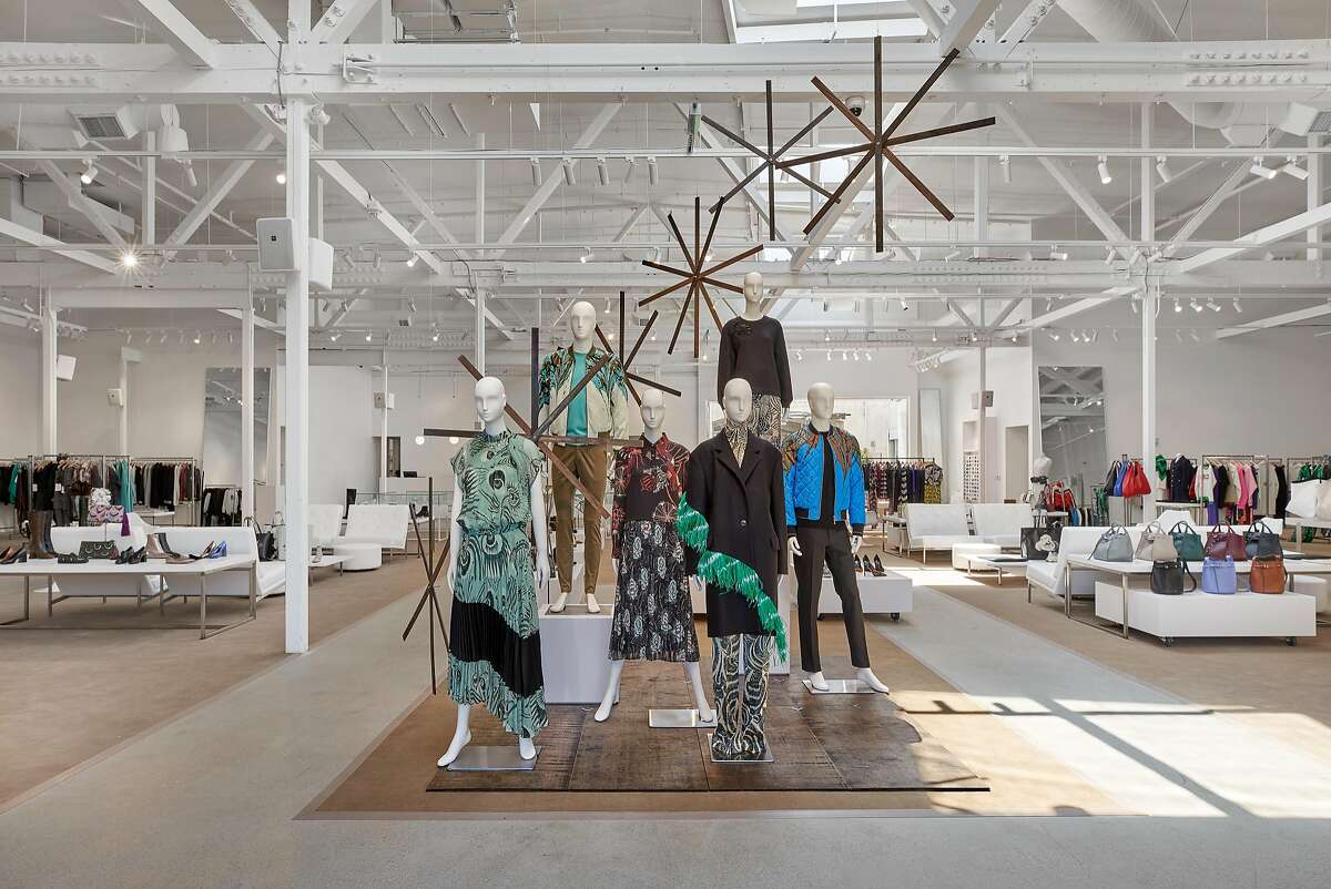The interior of the new Jeffrey store at Stanford Shopping Center.