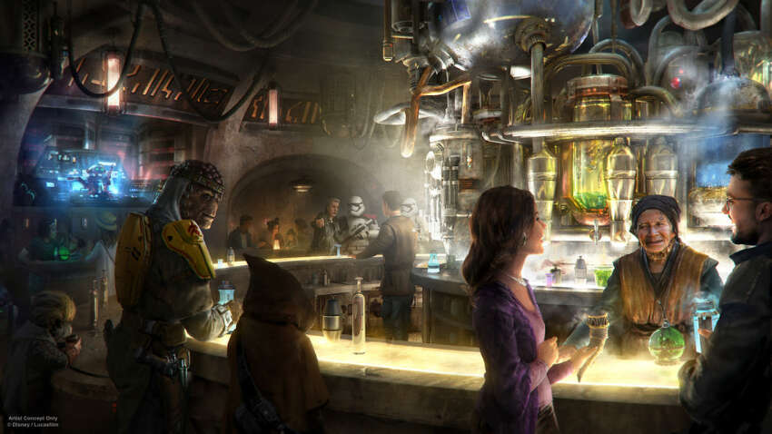 Oga's Cantina, a new bar headed to Star Wars: Galaxy's Edge at Disneyland.