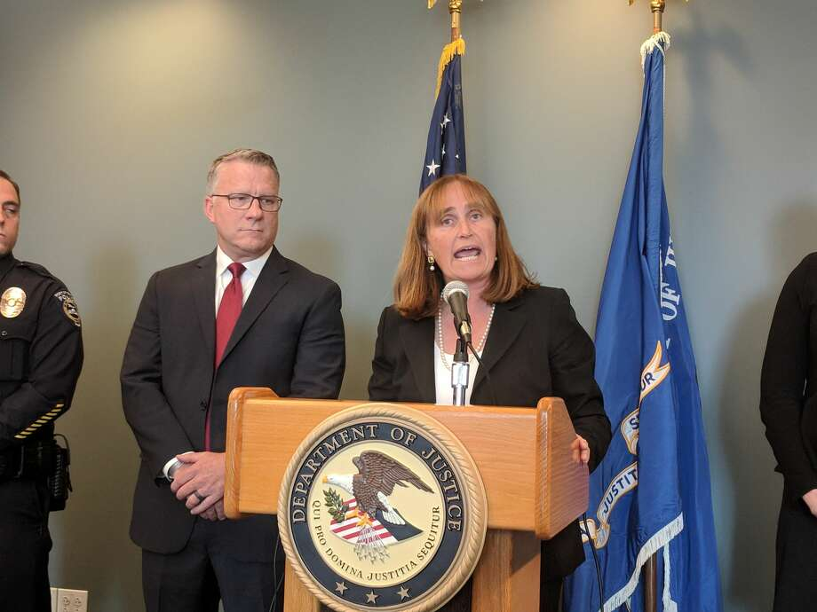 Annette Hayes, U.S. attorney for the Western District of Washington, announced Thursday the arrest and charging of two men accused of sexually assaulting women on Seattle-bound airplanes earlier this year. Jay Tabb, Jr., special agent in charge at Seattle's FBI office also offered information on the cases. Click on for information about sexual assault in the United States, provided by King County Sexual Assault Resource Center. Photo: Lynsi Burton/SeattlePI