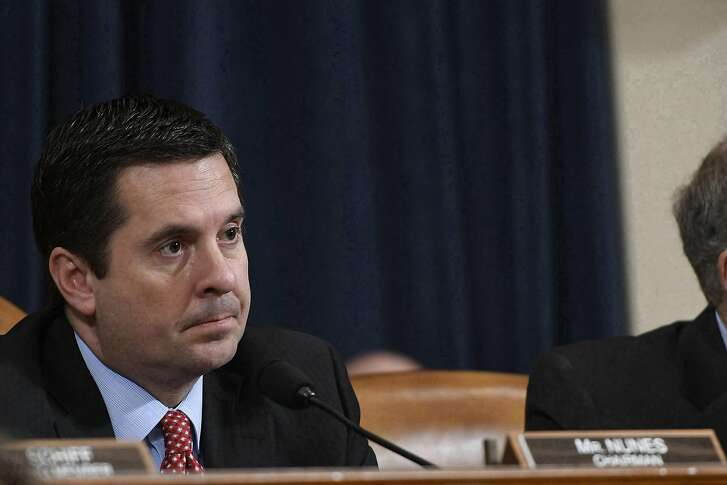 Devin Nunes listens to testimony before the House Permanent Select Commitee on Intelligence related to the Russian cyber attack and investigations into wiretapping, on Capitol Hill on March 20, 2017, in Washington, D.C. (Rex Shutterstock/Zuma Press/TNS)