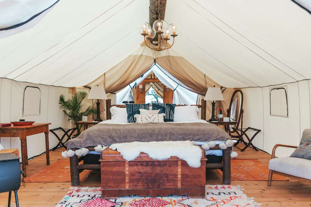Collective Hill Country, a Retreat at Montesino Ranch in Wimberley, is comprised of 12 luxury canvas tents.