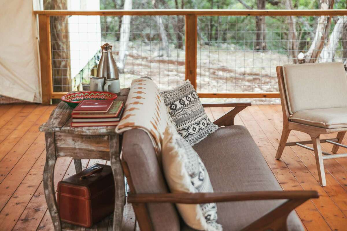 Decor at Collective Hill Country has an elevated rustic vibe.
