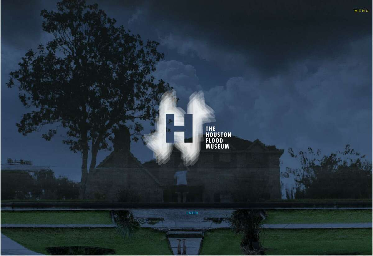 A screen capture of the home page for the Houston Flood Museum, an online museum.